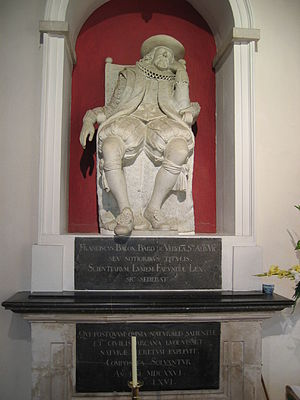 Memorial to Francis Bacon at his burial place