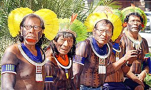 Brazilian indian chiefs, Kaiapos tribe
