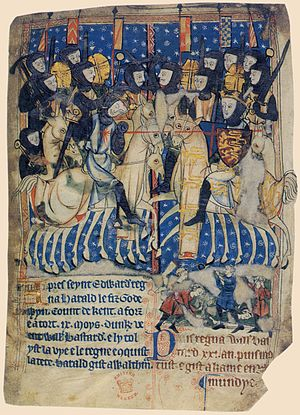 Duke William of Normandy, the Conqueror, stabs...