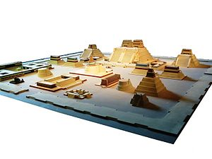 Model of the Aztec City of Tenochtitlan at the...