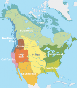 Cultural areas of North America at time of European contact European colonization