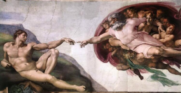 Michelangelo's The Creation of Adam (1512) is the most famous Fresco in the Sistine Chapel