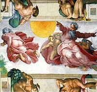 Michelangelo's painting of the ceiling of the Sistine Chapel