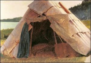 Details of Ojibwe Wigwam at Grand Portage