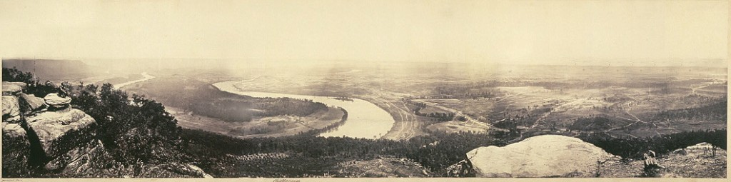 Panoramic View from Lookout Mountain in 1864
