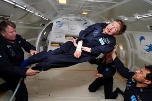 Physicist Stephen Hawking in Zero Gravity (NASA)